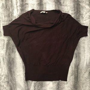 Cowl Neck Loft Maroon Sweater